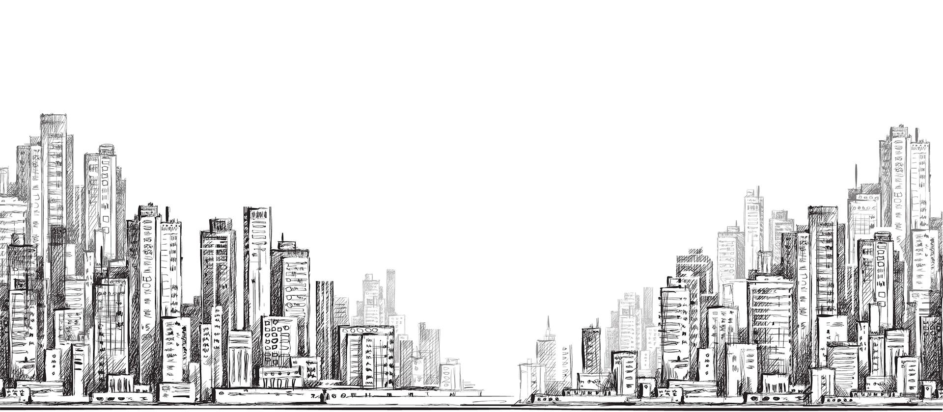 ビル群のイラスト
